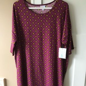 LulaRoe Irma XL Purple/Mustard
